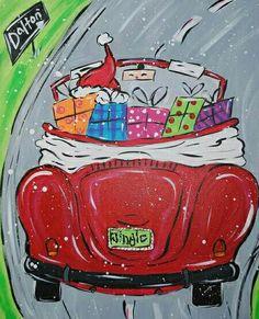 where is santa? Christmas Paintings On Canvas, Christmas Canvas, Christmas Banners, Christmas Art, Christmas Graphics, Canvas Paintings, Window Art, Pictures To Paint, Christmas Pictures
