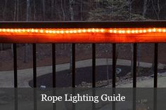 Instructions on how to cut rope light for DIY lighting projects. Includes indoor and outdoor rope light installation tips. Outdoor Rope Lights, Led Rope Lights, Backyard Lighting, Deck Lighting, Lighting Ideas, Curved Pergola, Pergola Shade, Light Project, Light Installation
