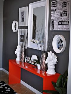 39 Red And Grey Home Decorating Ideas - Decorating Ideas