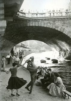 Rock and Roll sur les Quais, Paris, c1952. Photo by Paul Almasy.