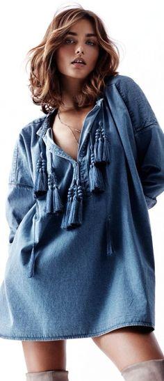 blouse boho jean .