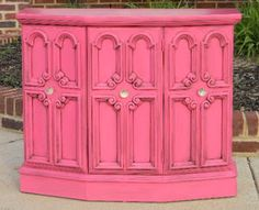 Chrissie's Collections: Pinkalicious Credenza Makeover