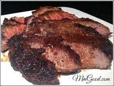 Repin if you are looking for a super easy and delicious Blackened Flank Steak on the table in less then 30 minutes, great for dinner or company.  Can be made outside on the BBQ or on the stovetop    MmGood.com