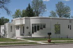 Wheatland, Wyo population 3200, an original art deco home, has been here for at least 55yrs.