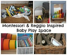 Inspiring ideas for how to create an intentional baby place space for 6-18 month olds (Inspired by Montessori and Reggio)