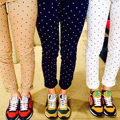 Running shoes with polka-dot pants SUN68 SS15 #SUN68 #runningshoes #SUN68brescia