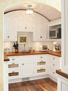 Design a Kitchen for Entertaining - Love This Extra Little Spot!