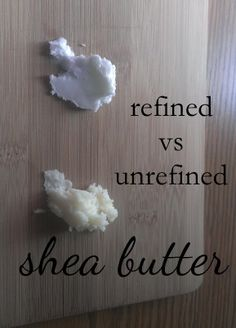 Difference between refined + unrefined shea butter and which one you should use at http://everblossom.net/2014/12/refined-vs-unrefined-shea-butter.html