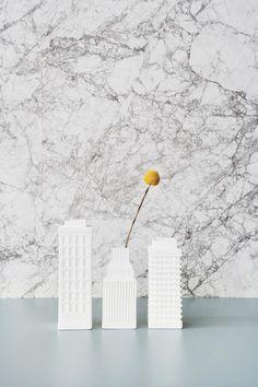 Ferm Living Shop — Marble (Gray) Wallpaper