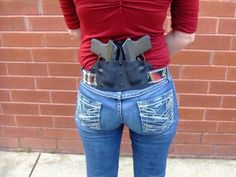 Two Keltec guns double carry firearms Freaking awesome chic holster. Weapons Guns, Guns And Ammo, 2 Guns, Protection Rapprochée, Pistol Holster, Boot Holster, John Russell, Cool Guns, Concealed Carry