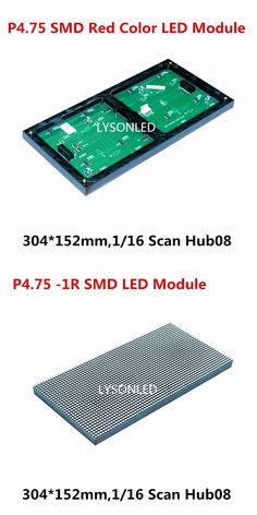 Replace F3.75 P4.75 Dot Matrix LED Module Red Color 304*152mm, P4.75 Indoor SMD2121 Red Color LED Display Module 64x32 Pixels