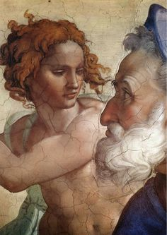 Michelangelo Buonarroti art painting for sale; Shop your favorite Michelangelo Buonarroti painting on canvas or frame at discount price. Renaissance Paintings, Renaissance Art, Caravaggio, Art Ninja, Michelangelo Paintings, Sistine Chapel Ceiling, William Adolphe Bouguereau, Pierre Auguste Renoir, Classical Art