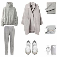 A fashion look from February 2016 featuring double breasted coat, MaxMara and flat shoes. Browse and shop related looks. Insta Outfits, Mode Outfits, Fashion Outfits, Fashion Ideas, Fall Outfits For Work, Winter Outfits, Uniqlo Women Outfit, Yeezy Fashion, Fashion Capsule
