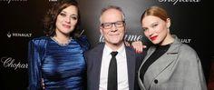 Marion Cotillard, Thierry Frémaux et Léa Seydoux au Dîner du Cinéma Madame Figaro
