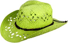 GREEN STRAW COWBOY HAT!!  ACCESSORIES BY SUZANNE