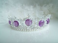 Crystal and Pearl Purple Princess Child's by CreativeCalling1