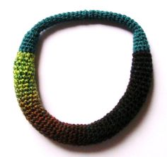 Yarn in Use Crochet Necklace, Beaded Necklace, Textile Jewelry, Jewelry Design, Textiles, Beaded Collar, Crochet Collar, Beads, Textile Art