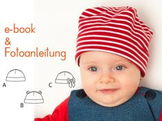 Mütze Bubu in 3 Modellvarianten als e-book von pattern4kids auf DaWanda.com