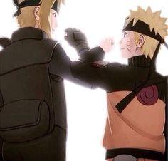 Naruto and minato.. Like father like son