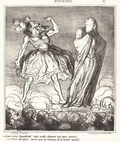 La Femme a barbe | Honoré Daumier, La Femme a barbe (1867)