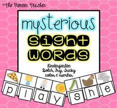 This is a sight words game where students look at the pictures, and use its initial sound to figure out what letter goes there. By figuring out each initial sound, students will come up with a sight word.This is for kindergarten ONLY. Dolch, Fry, tricky, number, and color words are included.