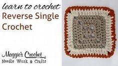Reverse Single Crochet : Learn to Crochet Reverse Single Crochet - Tutorial