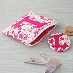 Initial Coin Purse And Mirror from notonthehighstreet.com