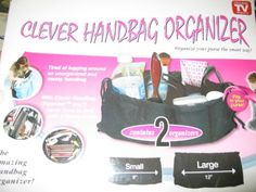 Clever Handbag Organizer Set Of 2 Large Small As Seen