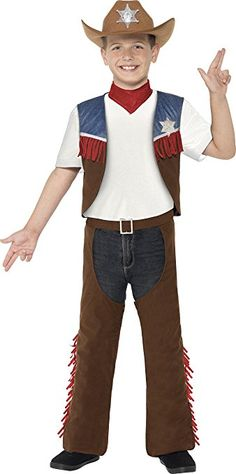 Smiffyu0027s 24666M - Jungen Cowboy Kostüm Alter 7-9 Jahre Größe  sc 1 st  Pinterest & House of Noise... I mean boys.: DIY: Kids Costume - Cowboy Chaps and ...