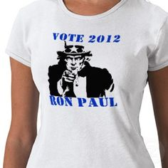 VOTE RON PAUL 2012 TEE SHIRTS