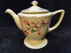 Homer Laughlin Liberty Dogwood 5 Cup Teapot Coffee Pot in Pottery & Glass, Pottery & China, China & Dinnerware   eBay