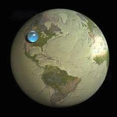 De totale hoeveelheid water op aarde in een mooi plaatje!