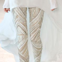 Embellished leggings.