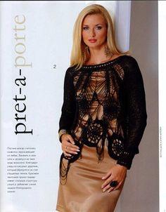 Zhurnal MOD Fashion Magazine 544 Russian knit and crochet patterns