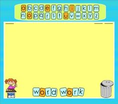 SMARTBoard Word Work Letter Tiles: Infinitely-Cloned letters in two styles to use for a variety of word work activities. You can easily create word work that is customized to your curriculum and students' needs. Includes templates, sample pages, and complete directions. $3, but save 28% Nov. 26-27 with code CMT12.