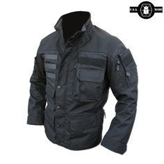 The Kitanica MARK V is the ultimate outdoor jacket. This ¾ length jacket is built using 500 denier CORDURA® with 1000 denier CORDURA® reinforcement on the shoulders, cuffs and elbows and comes with a detachable hood. Zombie Survival Gear, Tactical Survival, Survival Guide, Zombies Survival, Survival Skills, Tactical Wear, Tactical Clothing, Tactical Jacket, Tac Gear