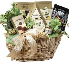 Art of Appreciation Gift Basket   Savory Sophisticated Gourmet Food Basket with Caviar - Medium - mygourmetgifts.co...