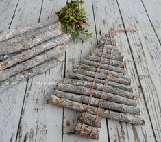 Kerstboom van takjes / Christmastree branches / DIY