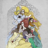 Disney princesses in a different light, plus the website is really cool