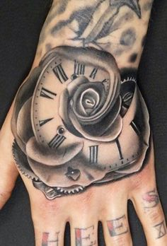 Looking for the best hand tattoos? Hand tattoos for men are bold and rebellious. Because hand tattoos are very visible and painful to get, think twice if you plan on…View Watch Tattoos, Time Tattoos, New Tattoos, Female Tattoos, Retro Tattoos, Trendy Tattoos, Unique Tattoos, Hand Tattoos For Women, Sleeve Tattoos For Women