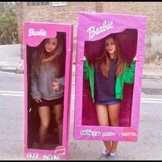 Ghouls gone wild 60 creative girlfriend group costumes pinterest fun halloween costume idea be barbie in a box solutioingenieria Images