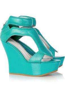 Ankle wrap wedge sandal by Camilla Skovgaard