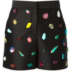 Stella McCartney stone embroidery shorts (44.110 RUB) ❤ liked on Polyvore featuring shorts, black, stella mccartney, stella mccartney shorts, zipper shorts, zipper pocket shorts and stone shorts