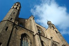 Barcelona:) This is a photo of Santa Maria del Mar. It has some amazing stained glass.