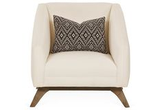 One Kings Lane - Well Collected - Anna Chair, White