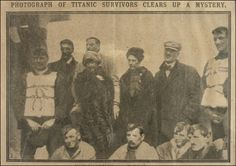 Laura Mabel Francatelli and Other Survivors  This newspaper clipping shows Titanic survivors Laura Mabel Francatelli with her employer Lady Duff-Gordon, the owner of a leading dress salon called Madame Lucille and Sir Cosmo Duff-Gordon.