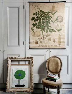 elleeste-belle: simplygrove.com me encanta el marco de cuadro del piso