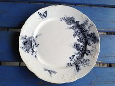 Gammelt, fint Egersund fat. Dinnerware, Retro Vintage, Fat, Blue, Dinner Ware, Tableware, Dining Ware