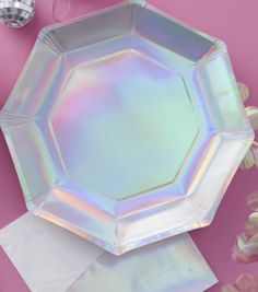 Iridescent Paper Plates - Iridescent Party