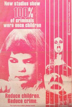 """Scarfolk Council: """"Children: The Cause of All Crime"""" Public Information, Twisted Humor, Illustrations, Pulp Fiction, Cool Things To Make, Weird Things, Funny Things, Creepy, Crime"""